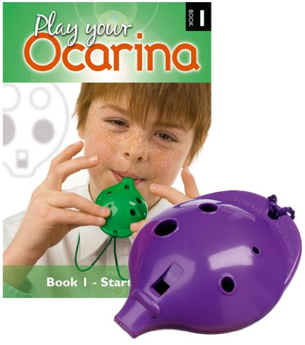 Plastic OCARINA Set, Purple 4-hole, with Book 1 from Ocarina Workshop