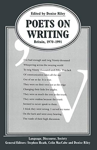 Poets on Writing: Britain, 1970-1991 (Language, Discourse, Society) from Palgrave Macmillan