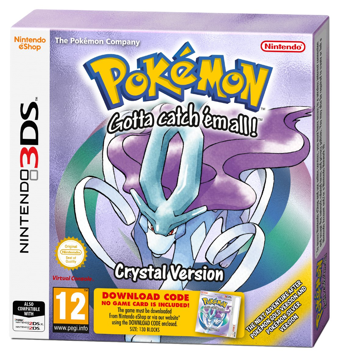 Pokemon Crystal Nintendo 3DS Game from Pokemon