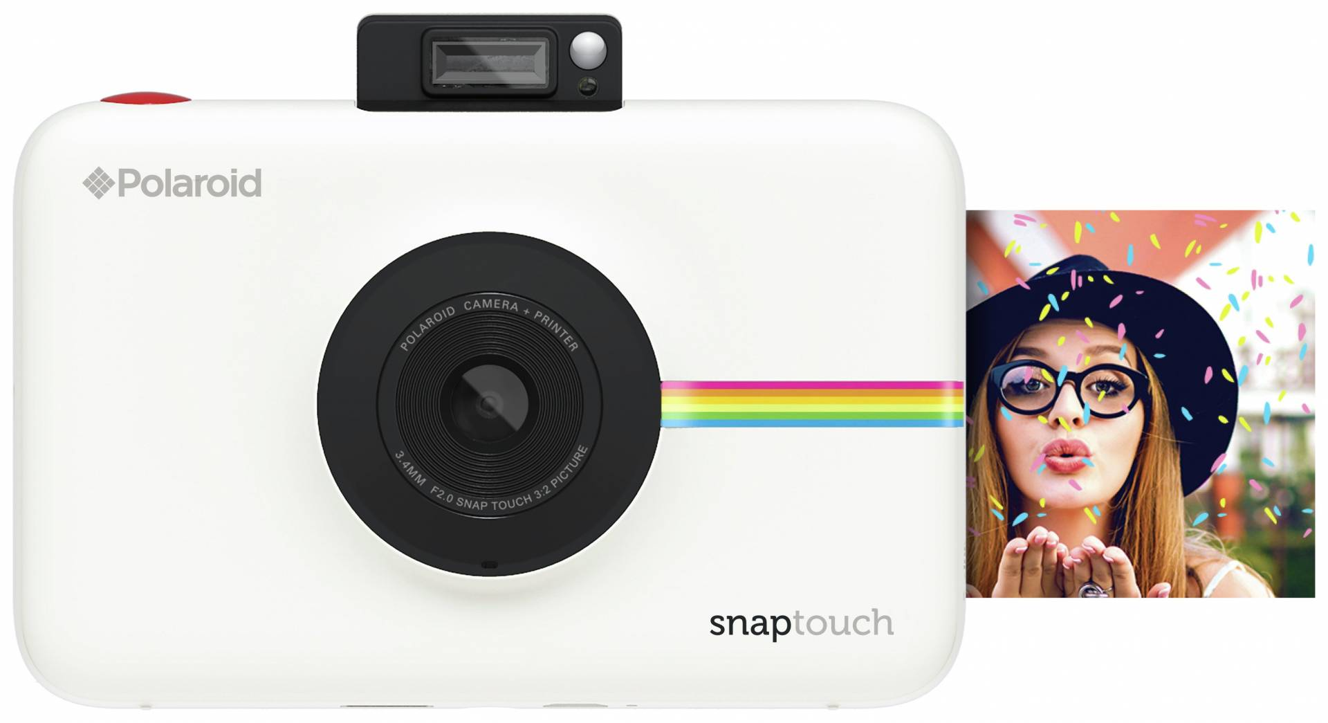 Polaroid - SnapTouch Instant Print Camera with LCD Screen - White from Polaroid