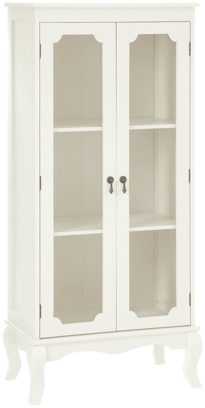 Premier Housewares Marcella Glass Door Cabinet - Ivory. at Argos from Premier housewares