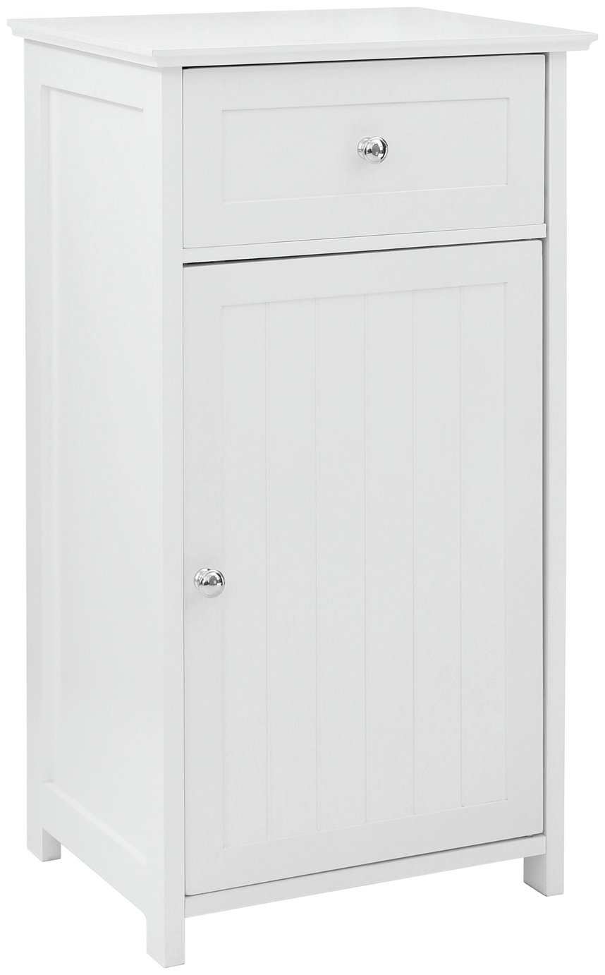 Premier Housewares Portland Wooden Cabinet with Shelf-White. at Argos from Premier housewares