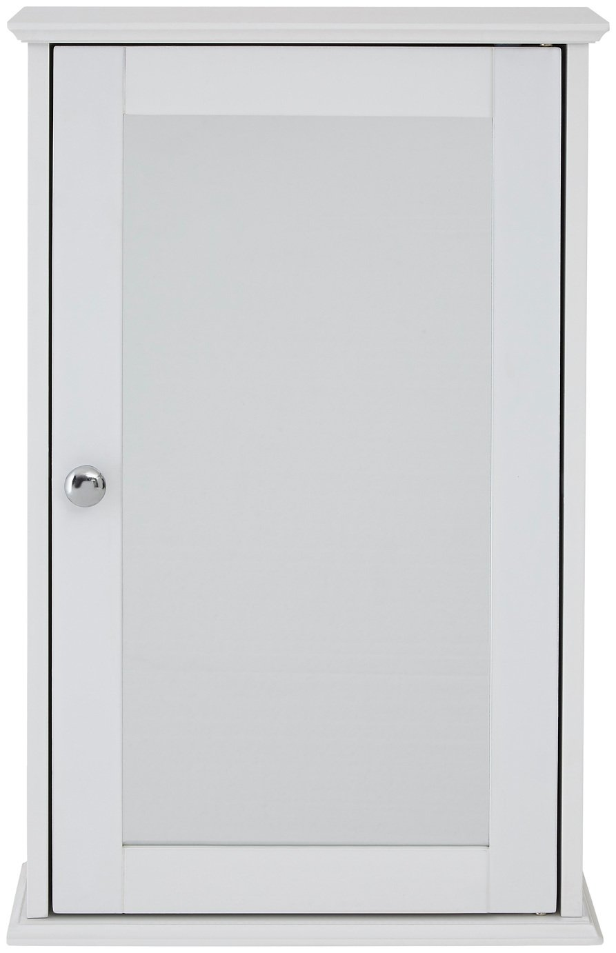 Premier Housewares Portland Wooden Mirrored Cabinet - White. at Argos from Premier housewares