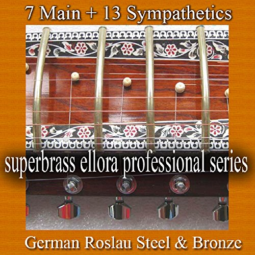 Premium Ellora 7+11 Full Sitar String Set. Bronze & German Steel. from VADYAM