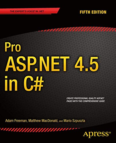 Pro ASP.NET 4.5 in C# (Professional Apress) from APress
