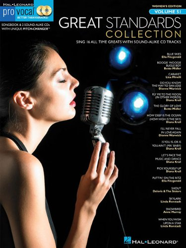 Pro Vocal Women's Edition Volume 51: Great Standards Collection (Book & CD) (Hal Leonard Pro Vocal (Numbered)) from Hal Leonard