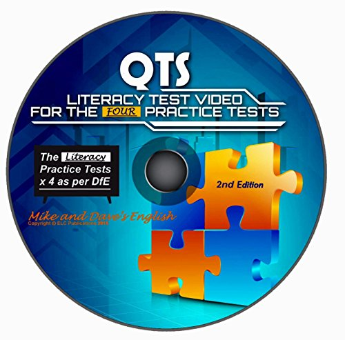 QTS Literacy Skills Test: audio-visual WINDOWS CD for the 4 Practice Tests 2015-2016 (2nd Edition) from Mike and Dave
