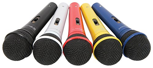 QTX 173.854UK Coloured Microphones (Set of 5) from qtx