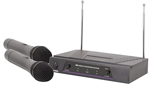 Dual Handheld Wireless Microphone System | VHF - 173.8 + 174.8MHz from qtx