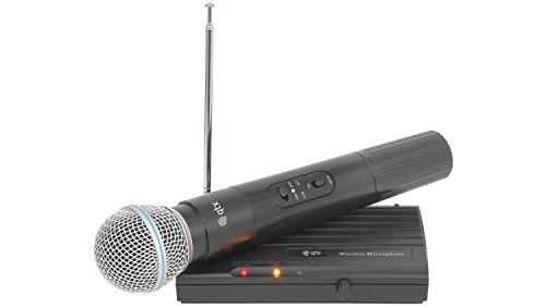 QTX VH45B Wireless Cordless Microphone Mic VHF 174.5MHz Compact System from qtx