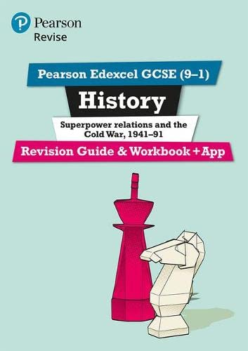 Revise Edexcel GCSE (9-1) History Superpower relations and the Cold War Revision Guide and Workbook: (with free online edition) (Revise Edexcel GCSE History 16) from Pearson Education