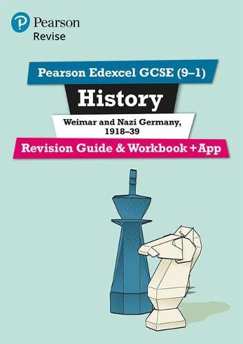 Revise Edexcel GCSE (9-1) History Weimar and Nazi Germany Revision Guide and Workbook: (with free online edition) (Revise Edexcel GCSE History 16) from Pearson Education
