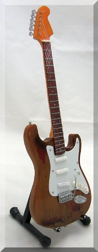RORY GALLAGHER Miniature Mini Guitar Fender Strat from ARTSTUDIO35