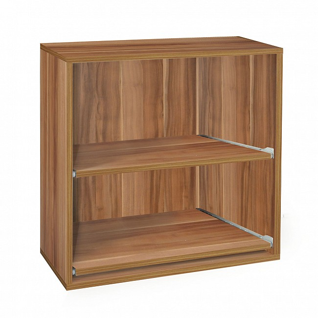 Rack module, 2 removable shelves, pear wood, D 33 cm