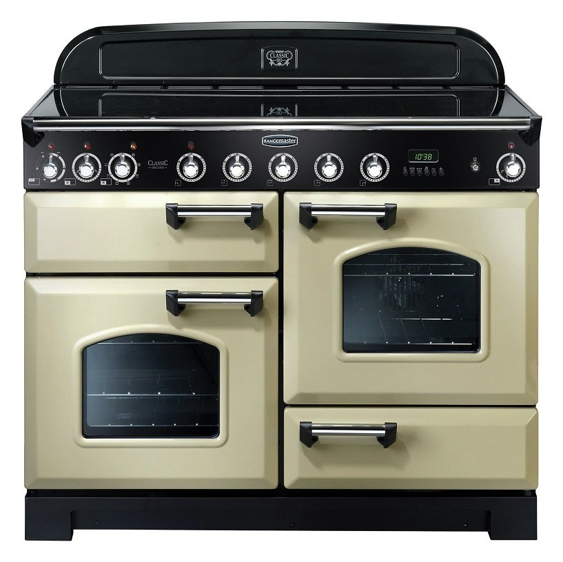 Rangemaster Classic 110cm Induction Range Cooker - Cream.