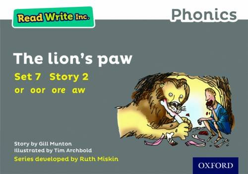 Read Write Inc. Phonics: Grey Set 7 Storybook 2 The Lion's Paw from OUP Oxford