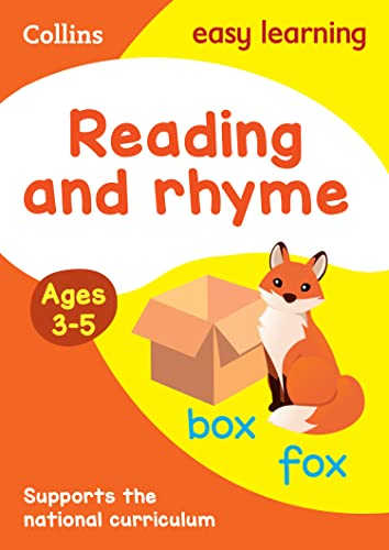 Reading and Rhyme Ages 3-5: New Edition: easy early reading activities for 3 year olds (Collins Easy Learning Preschool) from HarperCollins Publishers