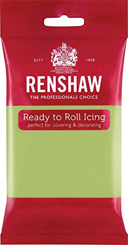 Renshaw Ready to Roll Fondant Icing Sugarpaste - 250g Packs (Pastel Green 250g) from Renshaw