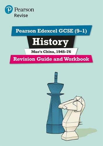 Revise Edexcel GCSE (9-1) History Mao's China Revision Guide and Workbook: (with free online edition) (Revise Edexcel GCSE History 16) from Pearson Education