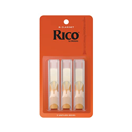 Rico 2.0 Strength Reeds for Bb Clarinet (Pack of 3) from Rico