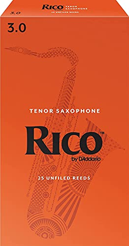 Rico 3.0 Strength Reeds for Tenor Sax (Pack of 25) from Rico