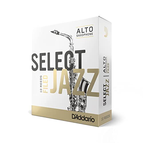Rico Filed Soft 3 Strength Select Jazz Reed for Alto Sax (Pack of 10) from Rico