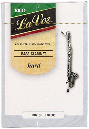 Rico La Voz Hard Strength Reeds for Bass Clarinet (Pack of 10) from Rico