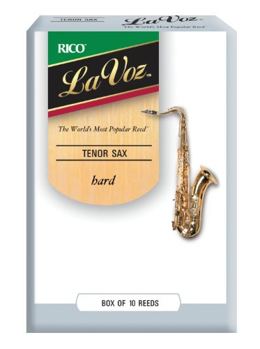 Rico La Voz Hard Strength Reeds for Tenor Sax (Pack of 10) from Rico
