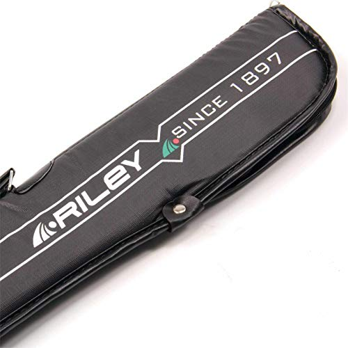 Riley Black Padded Soft 2pc Snooker Pool Cue Case from Riley