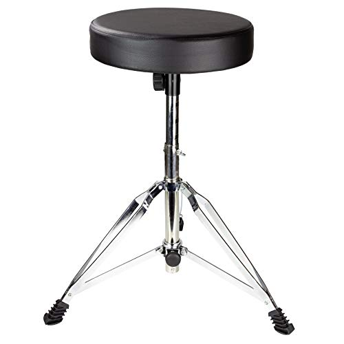Rockjam Drum Stool with Padded Seat - Chrome from Rockjam