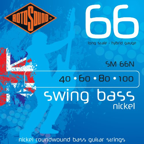 Rotosound Nickel Hybrid Gauge Roundwound Bass Strings (40 60 80 100) from Rotosound