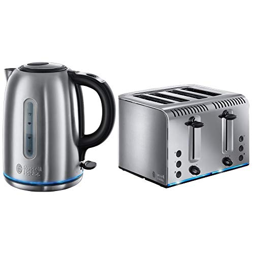 Russell Hobbs 20750 Buckingham Four Slice Toaster and Russell Hobbs 20460 Buckingham Quiet Boil Kettle - Stainless Steel from Russell Hobbs