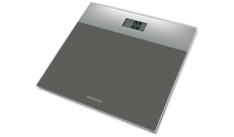 Salter Glass Electronic Bathroom Scales - Silver from Salter