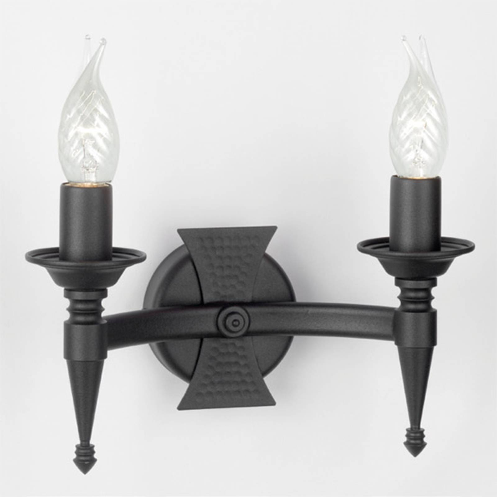 Saxon Wall Light Two Bulbs Black from ELSTEAD