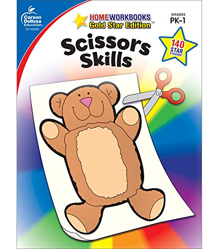 Scissors Skills Grades PK-1 (Home Workbooks: Gold Star Edition) from Carson Dellosa