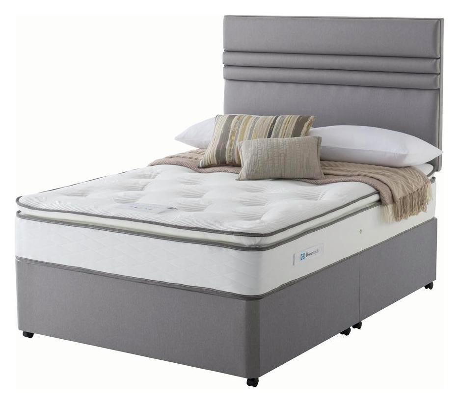 Sealy - 1400 Pocket Memory Pillowtop - Double - Divan at Argos from Sealy