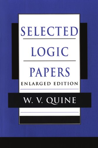Selected Logic Papers, Enlarged Edition from Harvard University Press