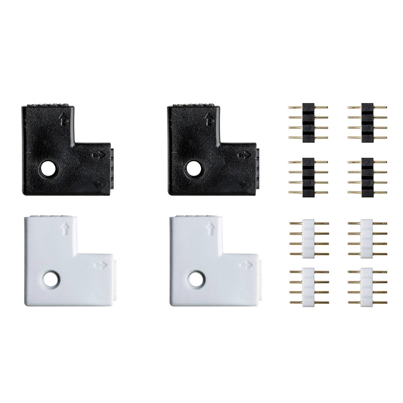 Set of 4 corner connectors for Caja strip system from Paulmann