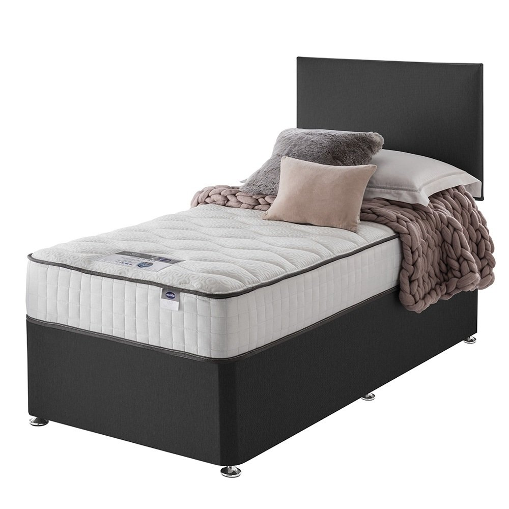 Silentnight - Middleton Pocket Memory Charcoal - Divan - Single from Silentnight