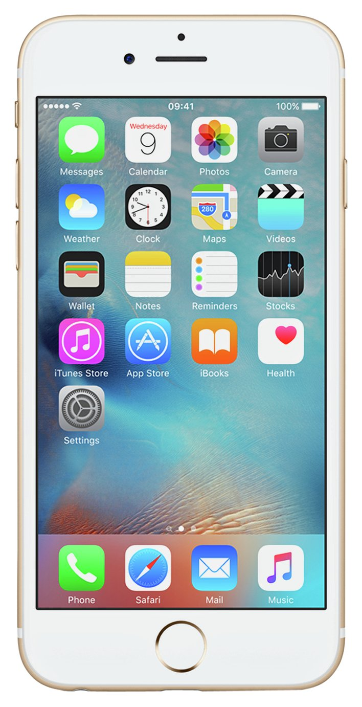 SIM Free iPhone 6s 128GB Mobile Phone - Gold from Apple