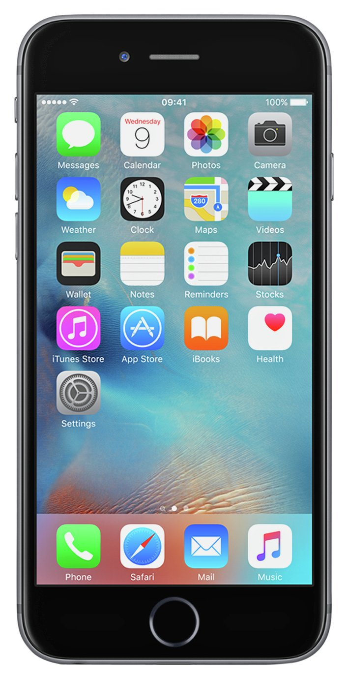 SIM Free iPhone 6s 128GB Mobile Phone - Space Grey from Apple