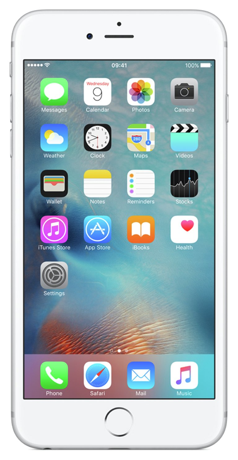SIM Free iPhone 6s Plus 32GB Mobile Phone - Silver from Apple