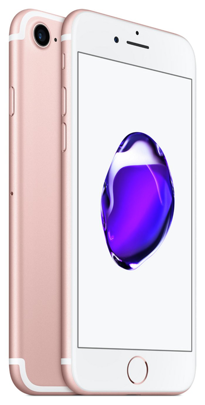 SIM Free iPhone 7 128GB Mobile Phone - Rose Gold from Apple