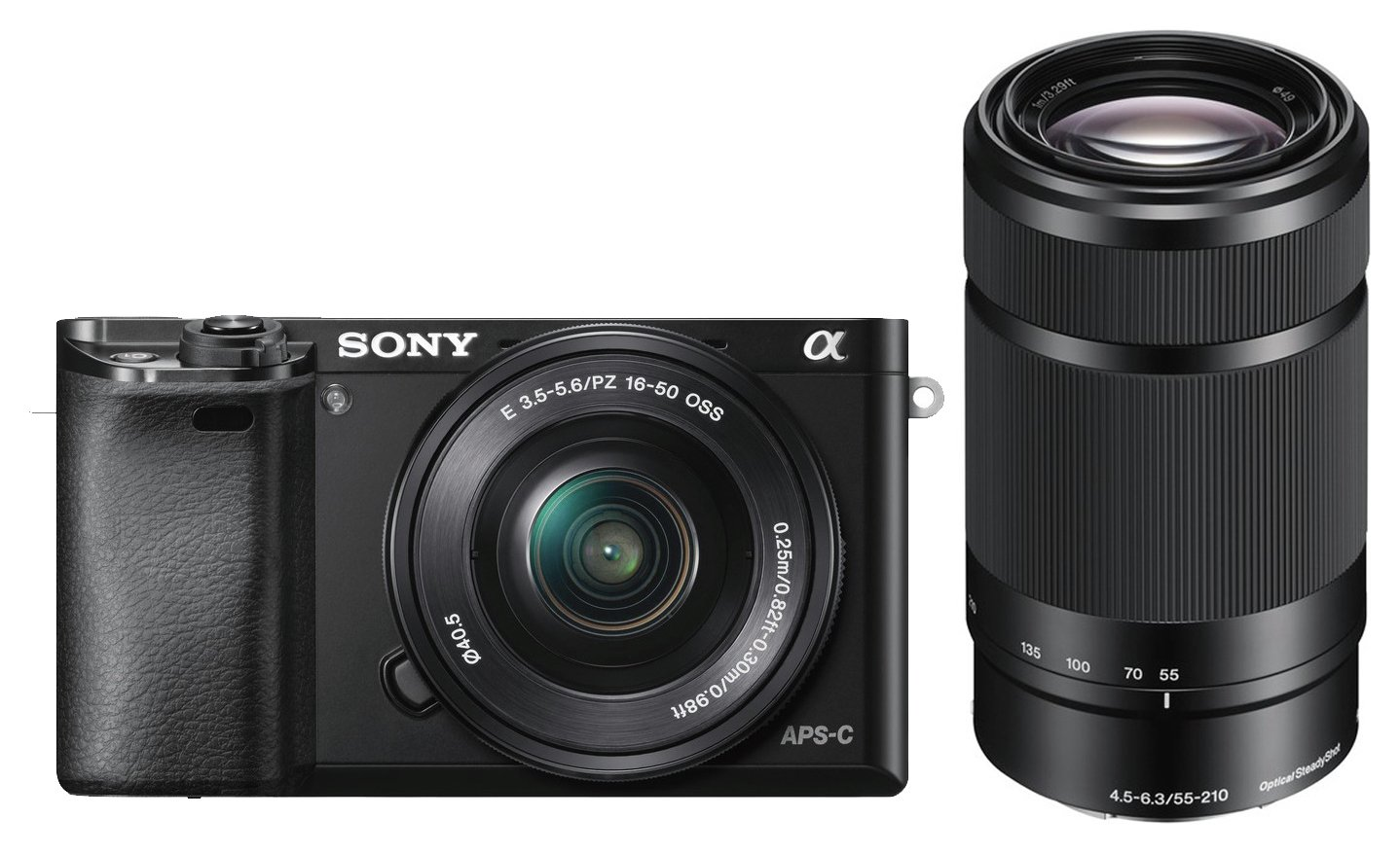 Sony A6000 Mirrorless Camera With 16-50mm & 55-210mm Lenses from Sony