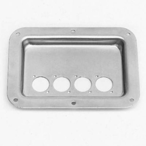 Speakon or XLR Mounting Plate Recessed Zinc from Penn Elcom