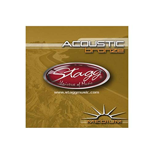 Stagg 13481 6-Pack Medium Bronze Acoustic Guitar Strings from Stagg