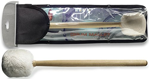 Stagg 15175 368 mm Maple Mallet for Marching/Orchestral Drum with Small White Plush Tip from Stagg