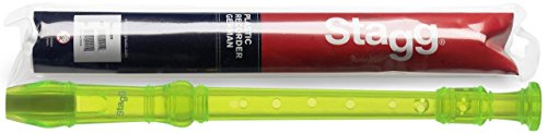 Stagg 20945 German Fingering Soprano Recorder - Green from Stagg