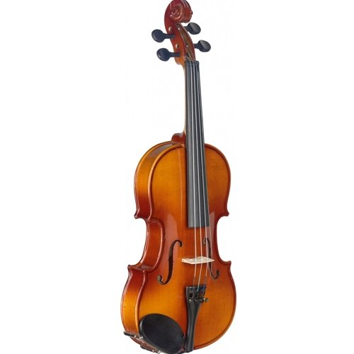 Stagg 22375 Size 1/4 Solid Maple Violin with Standard Shaped Soft Case from Stagg