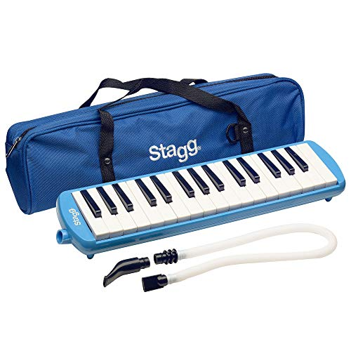 Stagg MELOSTA32BL 32 Note Melodica with Case - Blue from Stagg